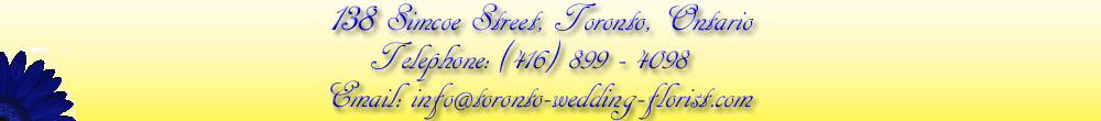 Toronto Wedding Florist in Downtown Toronto